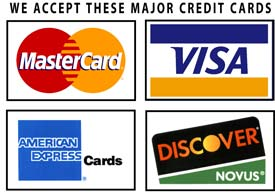 Banner of Credit card Accepted at Countryside Stoves Marcy NY